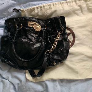Michael Kors Embossed Black Hamilton Bag